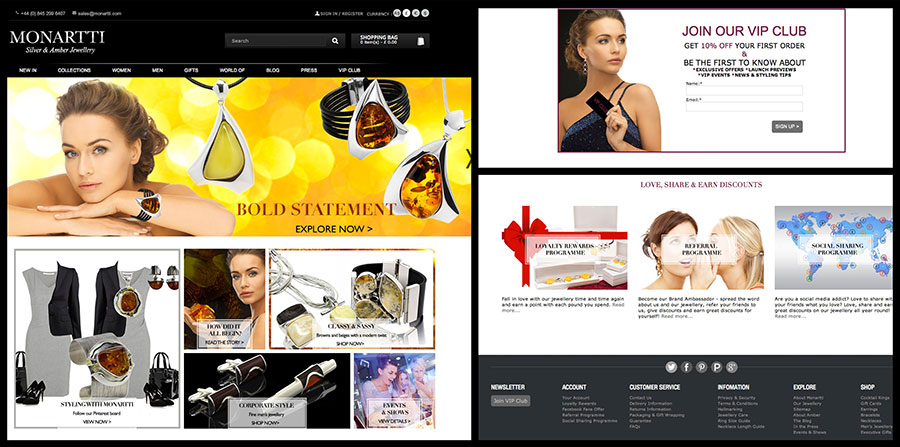 Monartti Jewellery New Website Launch