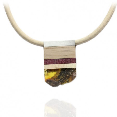 Amber & Mix Wood Necklace