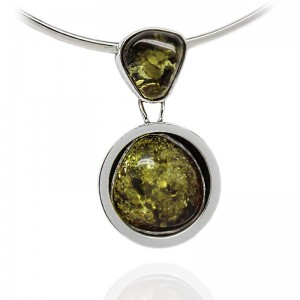 Amber in Silver Bowl Pendant