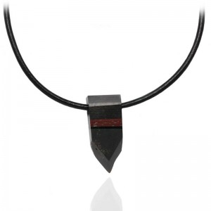 BLACK AMBER & MIX WOOD MEN'S NECKLACE
