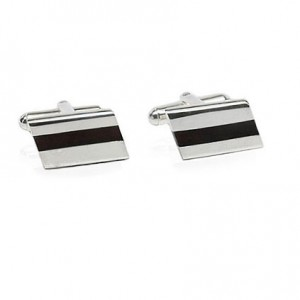 SLEEK COGNAC AMBER STERLING SILVER CUFFLINKS