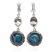 JASPER SILVER DROP EARRINGS GAEA
