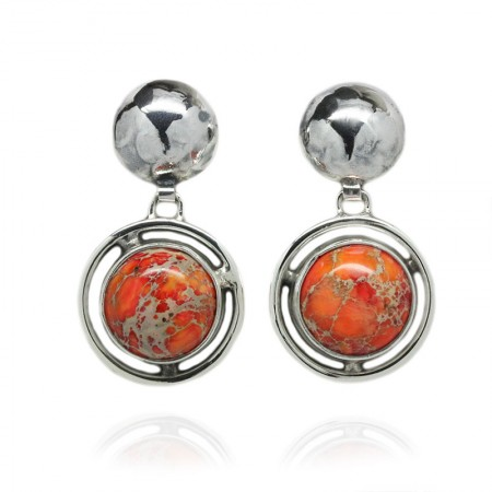 JASPER SILVER EARRINGS DAEA