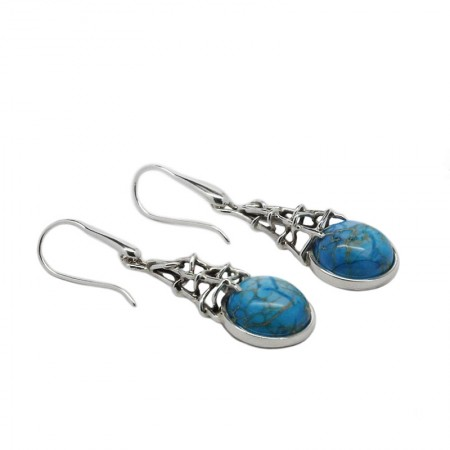 JASPER SILVER DROP EARRINGS SHEA