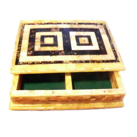 AMBER PLAYING CARDS BOX