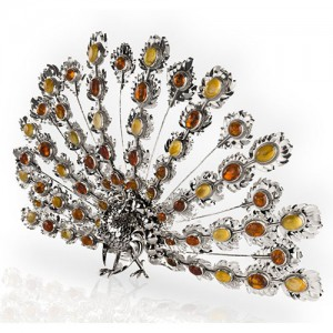 SILVER AMBER PEACOCK