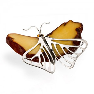 SILVER AMBER BUTTERFLY