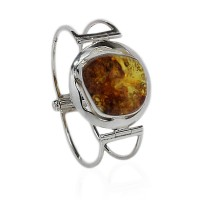 Sunny Amber in Silver Circle Bracelet