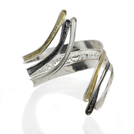 TWISTED CLAWS SILVER CUFF BANGLE