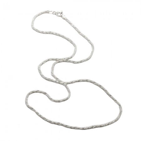 STERLING SILVER TWISTED FOXTAIL CHAIN 1.4MM