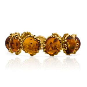 GOLD-PLATED AMBER DROPS BRACELET